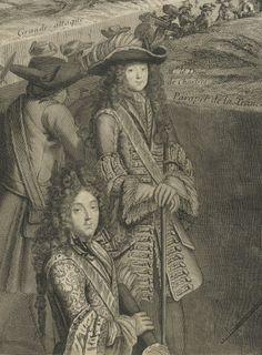 Monsieur le duc d'Orléans avec son fils, le duc de Chartres.