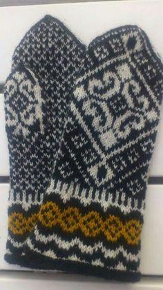 Ravelry: Lisa pattern by Solveig Larsson Knitted Mittens Pattern, Knit Mittens, Knitted Gloves, Fair Isle Knitting, Knitting Accessories, Hand Warmers, Knit Crochet, Crochet Patterns, Socks