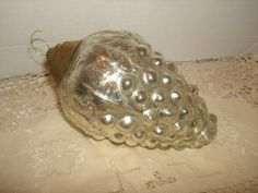 HUGE ANTIQUE 6 Silver Mercury Glass Grape by PastPossessionsOnly, $375.00
