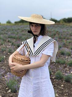 Sailor collar - organic cotton Sailor Collar, Panama Hat, Organic Cotton, Fashion, Moda, Fashion Styles, Fashion Illustrations, Panama