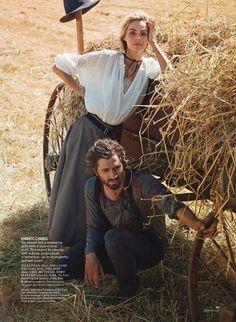Glamour Editorial August 2014 - Valentina Zelyaeva & Michiel Huisman by Will Davidson