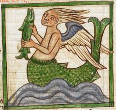 Detail from medieval illuminated manuscript, British Library Harley MS 3244, 1236-c 1250,f55r