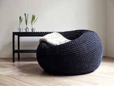 Giant Pouf Ottoman Extra Large Floor Cushion Bean Bag Chair Any individual can produce a house sweet property, even when the budget is tight. Modern Bean Bag Chairs, Modern Bean Bags, Oversized Floor Pillows, Large Floor Cushions, Oversized Chair, Giant Bean Bag Chair, Giant Bean Bags, Knitted Pouffe, Crochet Pouf