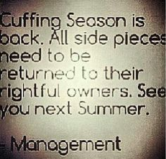 Cuffing season is back.. loll
