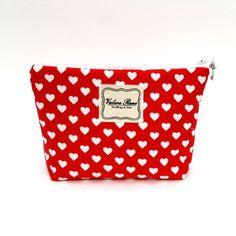 Shop our Red Hearts Medium Makeup Bag for $20.00 at www.vrhandbags.com