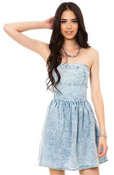 The Acid Wash Tube Dress by *MKL Collective $40