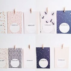 Pattern & Post Card 2014 Calendar by stationeryboutique on Etsy