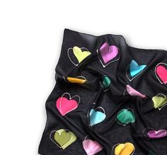Colourful Love Collection hand painted silk scarf by borodesign, $45.00