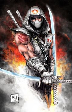Zinogre Cosplay Storm Shadow Colored Print by Hanzozuken - Comic Book Characters, Comic Character, Comic Books Art, Comic Art, Arte Ninja, Ninja Art, Thundercats, Guerrero Ninja, Snake Eyes Gi Joe