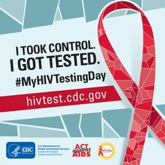If you've been tested for HIV, tell your friends and family about what to expect and encourage them to take control of their health, too. #MyHIVTestingDay http://www.cdc.gov/actagainstaids/basics/testing.html