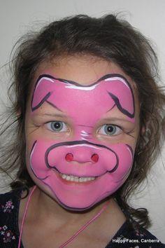 farm animal face paint - Google Search