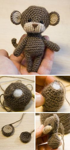 How to make crochet monkey toy. Click on image to see step-by-step tutorial