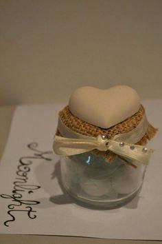 Segnaposto vasetto con cuore in gesso #wedding #gesso #cuore #vasetto #matrimonio #battesimo #faidate #moonlight #comunione #bomboniere #segnaposto