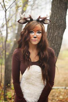 @jfiordimondo If u want to be the deer this is cute!! lol flattery: Deer Halloween Costume Tutorial