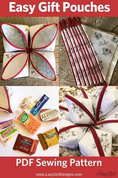 Small zipper pouches make perfect gift bags. Need ideas on what to put in them? How about a first aid or beauty repair kit? These also are handy for bridesmaid survival kits. Ideas and tips to make three different essentials to get through the day with ease and  confidence. #LazyGirlDesigns #GiftBag #BridemaidGifts Box Patterns, Easy Sewing Patterns, Sewing Ideas, Sewing Projects, Diy Projects, Bridesmaid Gift Bags, Wedding Gifts For Bridesmaids, Lazy Girl Designs, Small Zipper Pouch