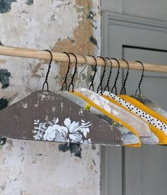 amazing DIY hangers @ https://www.facebook.com/sklephomebazaar?group_id=0