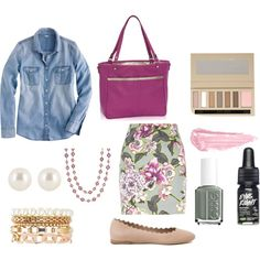 Thirty One Outfit by bronomel on Polyvore featuring J.Crew, River Island, Chloé, Charlotte Russe, Henri Bendel, Chanel, By Terry, Essie, women's clothing and women's fashion