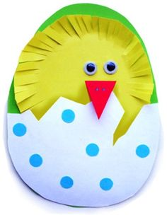 Easter crafts for preschoolers - DIY Easter card