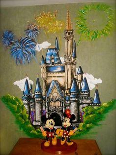 Disney mural on pinterest disney wall murals disney for Disneyland wall mural