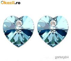 Cercei NEW HEART highland cu cristale Swarovski