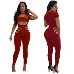 3ef2d5572e9 Sexy Women Clubwear Stretch Bodycon Bandage Jumpsuits Rompers for Sale  OEP5132