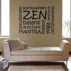 Tekststicker Zen - Muurstickers tekst   Muurmode.nl