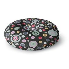 """East Urban Home Suzanne Carter 'Circle Circle II' Round Floor Pillow Size: 23"""" x 23"""""""