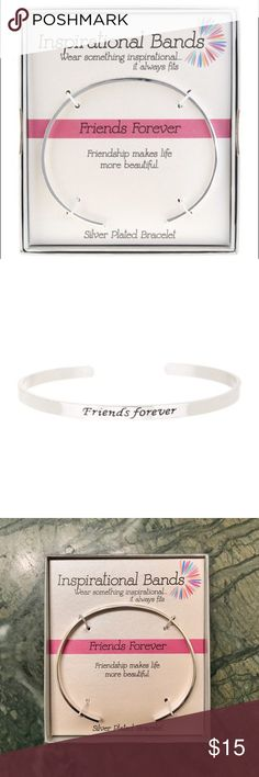 "Best Friends Cuff Bracelet NEW IN BOX! Sliver plated friendship bracelet. Open cuff with statement Friends Forever engraved band. Perfect gift for your BFF! - Approx. 2.5"" inner diameter - Approx. 0.25"" band width Nordstrom Jewelry Bracelets"