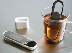 Loop Tea Strainer  If you love tea, you will also love tea strainers as it is vital when preparing a cup of tea. Tea strainers can reduce the amount of dirty dishes in your house. This loop tea strainer is a stick-shaped multi-functional kitchen tool and will allow you to prepare smart tea. Open the slidable part, scoop tea leaves without a teaspoon, place in hot water in your cup. A smart way to serve a cup of tea. It comes with a stand, and you can hold it when you put it in to the hot…
