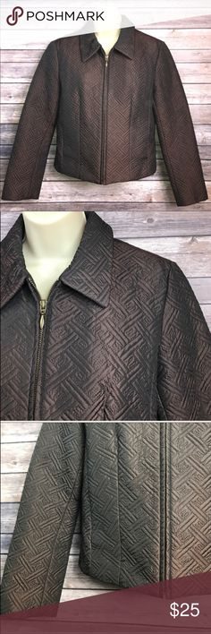 "Size 8 KENAR Copper Quilted Cropped Jacket ▪️Copper colored metallic stitching ▪️puffy quilted material ▪️sits at waistline. (Cropped) ▪️18.5"" armpit to armpit ▪️20"" length Kenar Jackets & Coats"