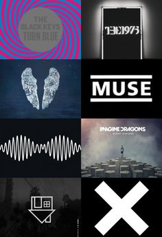 The Black Keys, The 1975, Coldplay, Muse, Arctic Monkeys, Imagine Dragons, The Neighbourhood, The XX