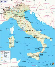 Italy Map - Answers Travel Maps, New Travel, Italy Travel, Places To Travel, Places To See, Travel Europe, Detailed Map Of Italy, Northern Italy Map, Verona