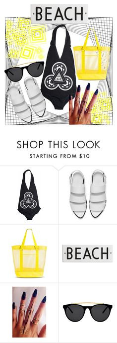 """""""Geometry on the beach"""" by marija2132 ❤ liked on Polyvore featuring Alexander Wang, Target, Rosanna and Smoke & Mirrors"""