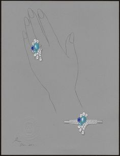 Harry Winston - Water collection - Splash turquoise ring