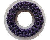 Deep Purple crochet bangle - Crochet bangle- Spring 2014 Bangles