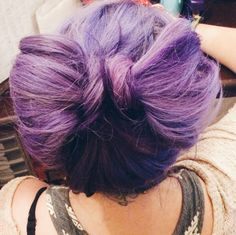 Purple messy top bow!