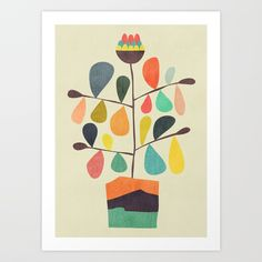 Buy Potted Plant 4 Art Print by budikwan. Worldwide shipping available at Society6.com. Just one of millions of high quality products available.