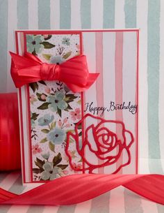 Sending birthday cards has always been important to me.even before I joined Stampin' Up! It's a small way to let someone know you recognize their special da Birthday Cards For Women, Handmade Birthday Cards, Greeting Cards Handmade, Birthday Bouquet, Scrapbooking, Stamping Up Cards, Mothers Day Cards, Cards For Friends, Card Sketches