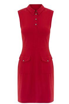 All | Red CREPE POCKET DETAIL DRESS | Warehouse
