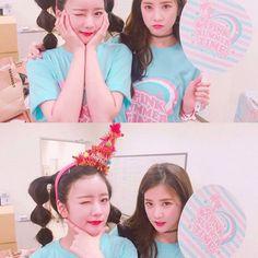 Bomi and Chorong - #apink #a #pink #pinkpanda #chorong #park #parkchorong #bomi #yoon #yoonbomi #namjoo #kim #kimnamjoo #hayoung #oh #oohhayoung #jung #eunju #jungeunji #naeun #son #sonnaeun #ma #babes #acube #love #pandas