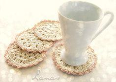 Lanas de Ana: Bloom Coasters (pattern)