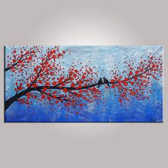 Oil Painting Love Birds Painting Canvas Painting by Topfineart