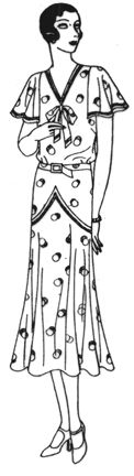 Past Patterns: #3293: Womens' and Misses' Frock: Circa 1929-1930, hmmm, natural waist and dropped waist...