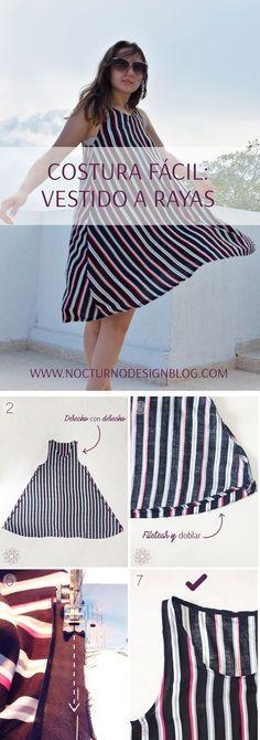 Sewing tutorial Easy sewing step by step. Sewing Hacks, Sewing Tutorials, Diy Vestidos, Diy Kleidung, Diy Fashion, Fashion Design, Fashion Ideas, Batik Dress, Nursing Dress