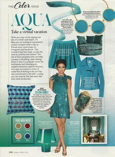 Say It with Color: Aqua #Instyle