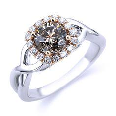 Cognac Diamond Engagement Ring Andrews Jewelers, Buffalo NY