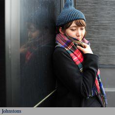 【楽天市場】ジョンストンズ Johnstons カシミア チェックストール[10P23Aug15]:Crouka(クローカ)