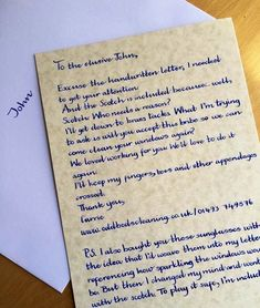 Handwriting Service - For Business, Pleasure or Corporate Use. Handwritten Letter Using a Dip Pen and Ink (Proposal, Anniversary, Birthday) How To Write Calligraphy, Calligraphy Handwriting, Calligraphy Letters, The Menu, Above And Beyond, Amazing Handwriting, Learn Handwriting, Handwriting Styles, Cursive Alphabet