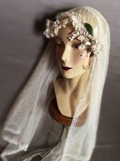 Vintage Bridal Veil by RubyandCordelias on Etsy, $150.00