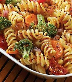 Recipe for Broccoli Pasta Salad  Good use of roasted veggies. I would just use good seasons Italian dressing
